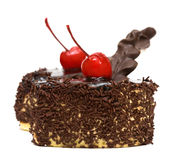 Tortas de chocolate con la cereza Imagenes de archivo