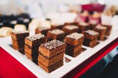 Tortas de chocolate dulce Imagen de archivo