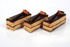 Tortas de chocolate escamosas fotos de archivo libres de regalías
