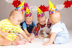 Tortas de cumpleaños Fotos de archivo libres de regalías