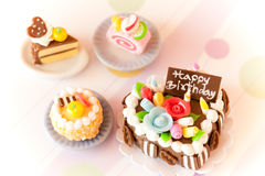 Tortas de cumpleaños Foto de archivo