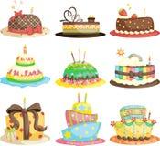 Tortas de cumpleaños Foto de archivo libre de regalías