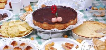 Tortas de cumpleaños Fotografía de archivo