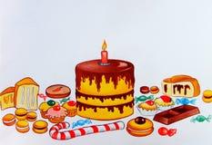 Tortas de cumpleaños Imagenes de archivo