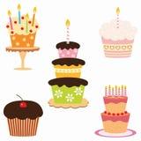 Tortas de cumpleaños Fotografía de archivo libre de regalías