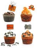 Tortas de Halloween fijadas Fotografía de archivo