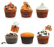 Tortas de Halloween fijadas Imágenes de archivo libres de regalías
