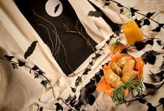 Tortas de la calabaza de Halloween Fotos de archivo