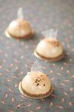 Tortas de la crema batida del café Fotografía de archivo libre de regalías