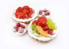 Tortas de la fruta Imágenes de archivo libres de regalías