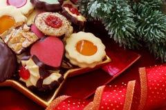 Tortas de la Navidad Fotografía de archivo libre de regalías