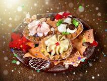 Tortas de la Navidad Fotos de archivo libres de regalías