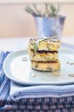 Tortas de la patata del bróculi Imágenes de archivo libres de regalías