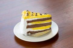 Tortas de la tarta de crema del plátano Fotos de archivo