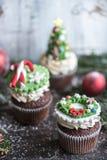 Tortas de la taza de la Navidad Imagenes de archivo