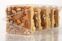 Tortas de la torta dulce del caramelo de la pacana Imagenes de archivo