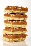 Tortas de la torta dulce del caramelo de la pacana Imágenes de archivo libres de regalías