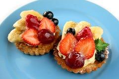 Tortas de las frutas Foto de archivo