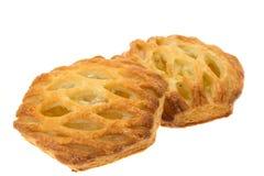 Tortas de maçã da massa folhada imagens de stock royalty free