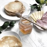 Tortas de miel del postre Foto de archivo libre de regalías