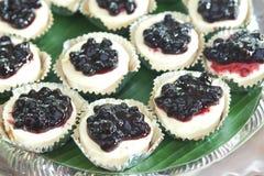 tortas de mirtilo Imagem de Stock Royalty Free