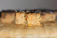 Tortas de zanahoria con el chocolate Foto de archivo