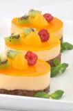 Tortas del chocolate y de la naranja Imagenes de archivo