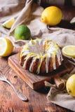 Tortas del limón Fotos de archivo