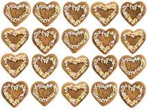 Tortas del pan de jengibre de Navidad Imagen de archivo