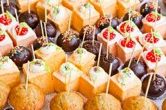 Tortas deliciosas Imágenes de archivo libres de regalías