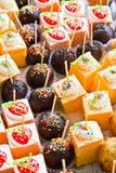 Tortas deliciosas Foto de archivo