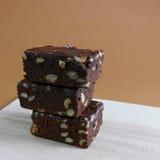 Tortas deliciosas del brownie del chocolate (#2) foto de archivo