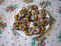 Tortas dulces de la Navidad fotografía de archivo