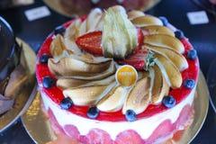 Tortas en una panadería en Menton Fotografía de archivo libre de regalías