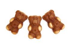 Tortas formadas oso del peluche Fotografía de archivo libre de regalías