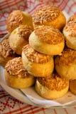 Tortas húngaras del queso de Traditonal - pogácsa Fotografía de archivo libre de regalías