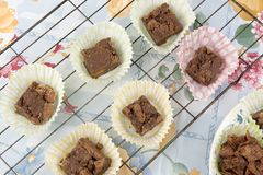 Tortas hechas en casa del chocolate Foto de archivo libre de regalías