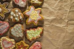 Tortas hechas a mano deliciosas del jengibre imágenes de archivo libres de regalías