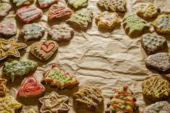 Tortas hechas a mano deliciosas del jengibre imagen de archivo