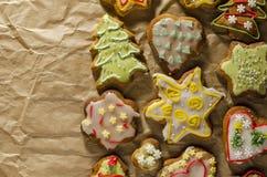 Tortas hechas a mano deliciosas del jengibre imagenes de archivo