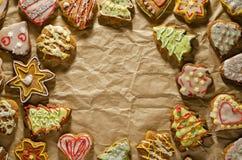 Tortas hechas a mano deliciosas del jengibre imagen de archivo libre de regalías