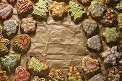 Tortas hechas a mano deliciosas del jengibre fotografía de archivo libre de regalías