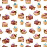 Tortas sabrosas Foto de archivo libre de regalías