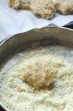 Tortas sin procesar del camarón Foto de archivo libre de regalías