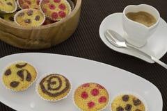 Tortas y café Imagen de archivo libre de regalías