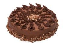 Torte adornado volante del chocolate - torta Foto de archivo libre de regalías