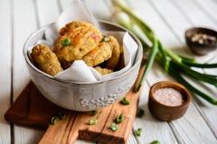 Torte al forno del prosciutto con formaggio Fotografia Stock Libera da Diritti