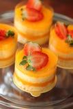 Torte arancioni fotografie stock