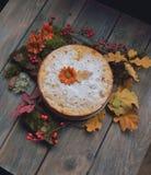 Torte auf Blättern Lizenzfreies Stockfoto