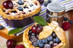 Torte casalinghe decorate della bacca della pasticceria dello shortcrust Immagine Stock Libera da Diritti